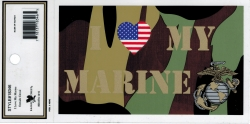 View Buying Options For The I Love/Heart My Marine Camo Outside Car Decal Sticker [Pre-Pack]