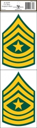 View Buying Options For The U.S. Army Sergeant Major Outside Car Decal Stickers [Pre-Pack]