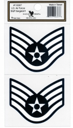 View Buying Options For The U.S. Air Force Staff Sergeant Outside Car Decal Sticker [Pre-Pack]