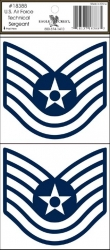 View Buying Options For The U.S. Air Force Technical Sergeant Outside Car Decal Sticker [Pre-Pack]
