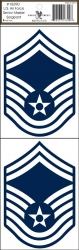 View Buying Options For The U.S. Air Force Senior Master Sergeant Outside Car Decal Sticker [Pre-Pack]