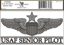 View Buying Options For The US Air Force Senior Pilot Outside Car Decal Sticker [Pre-Pack]
