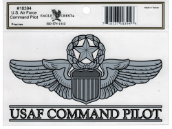 View Buying Options For The U.S. Air Force Command Pilot Outside Car Decal Sticker [Pre-Pack]