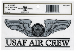 View Buying Options For The US Air Force Enlisted Air Crew Outside Car Decal Sticker [Pre-Pack]