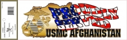 View Buying Options For The US Marine Corps Afghanistan Proudly Served Outside Window Strip Decal Sticker [Pre-Pack]