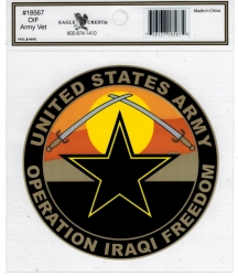 View Buying Options For The Operation Iraqi Freedom US Army Vet Outside Car Decal Sticker [Pre-Pack]
