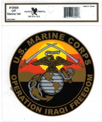 View Buying Options For The Operation Iraqi Freedom US Marines OIF Outside Car Decal Sticker [Pre-Pack]