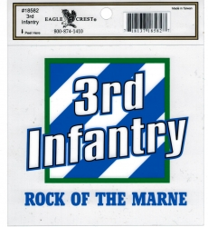 View Buying Options For The 3rd Infantry Division Rock of the Marne Outside Car Decal Sticker [Pre-Pack]