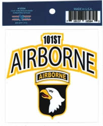 View Buying Options For The Eagle Crest 101st Airborne Division Screaming Eagles Outside Car Decal Sticker [Pre-Pack]