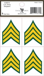 View Buying Options For The U.S. Army Sergeant Outside Car Decal Stickers [Pre-Pack]