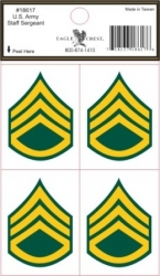 View Buying Options For The US Army Staff Sergeant Outside Car Decal Stickers [Pre-Pack]