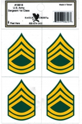 View Buying Options For The U.S. Army Sergeant 1st Class Outside Car Decal Stickers [Pre-Pack]