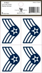View Buying Options For The US Air Force Senior Airman Outside Car Decal Sticker [Pre-Pack]