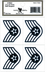 View Buying Options For The U.S. Air Force Staff Sergeant Outside Car Decal Stickers [Pre-Pack]