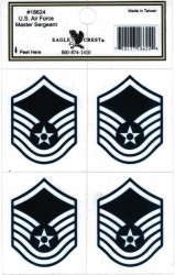 View Buying Options For The U.S. Air Force Master Sergeant Outside Car Decal Stickers [Pre-Pack]