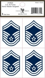 View Buying Options For The U.S. Air Force Senior Master Sergeant Outside Car Decal Stickers [Pre-Pack]