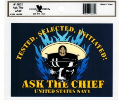 View Buying Options For The US Navy Ask The Chief Outside Car Decal Sticker [Pre-Pack]