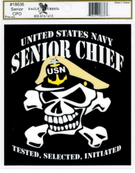 View Buying Options For The US Navy Senior Chief with Skull Outside Car Decal Sticker [Pre-Pack]