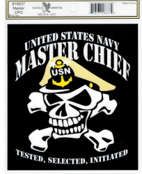 View Buying Options For The US Navy Master Chief with Skull Outside Car Decal Sticker [Pre-Pack]