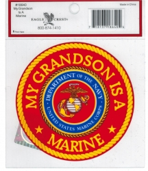 View Buying Options For The My Grandson is a Marine Outside Car Decal Sticker [Pre-Pack]