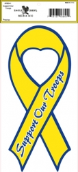 View Buying Options For The Support Our Troops Heart Ribbon Outside Car Decal Sticker [Pre-Pack]