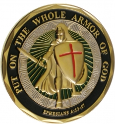 View Buying Options For The Put On The Whole Armor of God Spirit Challenge Coin