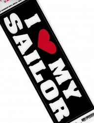 View Buying Options For The I Love/Heart My Sailor Car Bumper Sticker [Pre-Pack]
