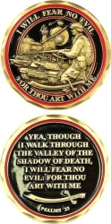 View Buying Options For The Fear No Evil Psalms 23 Spirit Challenge Coin