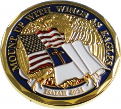 View Buying Options For The Mount Up with Wings As Eagles Isaiah 40:31 Spirit Challenge Coin