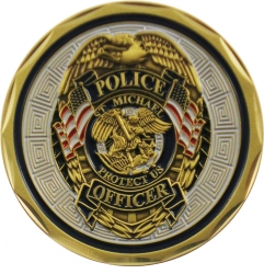 View Buying Options For The Police Officer St. Michael Protect Us Spirit Challenge Coin