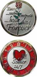 View Buying Options For The I Love My Soldier 24/7 Rose with Clock Spirit Challenge Coin