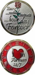 View Buying Options For The I Love My Airman 24/7 Rose with Clock Spirit Challenge Coin