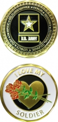 View Buying Options For The I Love My Soldier Spirit Challenge Coin