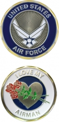 View Buying Options For The I Love My Airman Spirit Challenge Coin