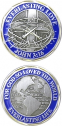 View Buying Options For The John 3:16 Everlasting Love Spirit Challenge Coin