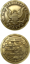 View Buying Options For The United States Navy Values Spirit Challenge Coin