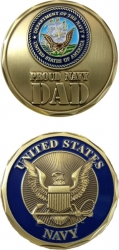 View Buying Options For The Proud US Navy Dad Challenge Coin