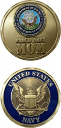 View Buying Options For The Proud US Navy Mom Challenge Coin