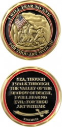 View Buying Options For The US Marines Psalms 23 Spirit Challenge Coin
