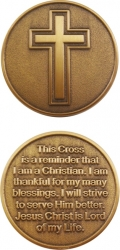 View Buying Options For The Cross with Reminder Spirit Challenge Coin