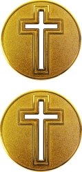 View Buying Options For The Cross Cutout Spirit Challenge Coin
