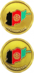 View Buying Options For The Afghanistan Country Shaped Flag Challenge Coin