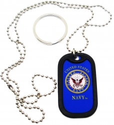 View Buying Options For The US Navy Eagle Seal Dog Tag with Silencer