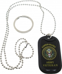 View Buying Options For The United States Army Veteran Dog Tag Key Chain Combo with Silencer