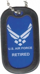 View Buying Options For The US Air Force Retired Dog Tag with Silencer