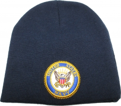 View Buying Options For The United States Navy Round Eagle Emblem Short Beanie Cap
