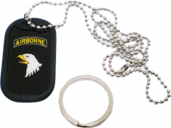 View Buying Options For The Eagle Crest 101st Airborne Division Dog Tag Key Chain Combo with Silencer