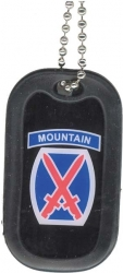 View Buying Options For The US Army 10th Mountain Division Dog Tag with Silencer