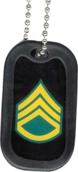 View Buying Options For The US Army Staff Sergeant Dog Tag with Silencer