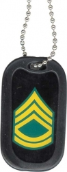 View Buying Options For The Army Sergeant 1st Class Dog Tag with Silencer